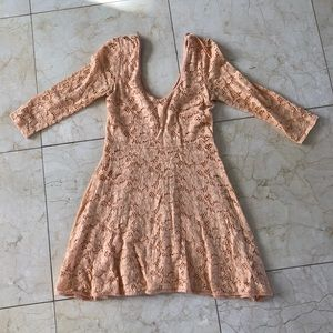 Free People NWOT Peach Size Small Longsleeve Dress